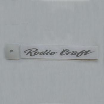 ロデオクラフト リアルカーボン柄ステッカー 小 シルバー