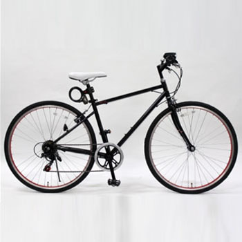 トップワン(TOPONE) MCR266-29-BK 26インチクロスバイク鍵ライト付【代引不可】 ブラック