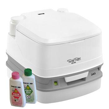 【送料無料】ポルタポッティ キューブ 水洗式ポータブルトイレ ホワイト PPQ345【SMTB】