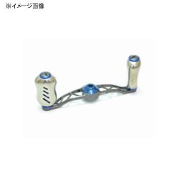 リブレ(LIVRE) クランク フェザー +Fino メインプレートSET(センターナット無し) 90mm GMB(ガンメタ×ブルー) CF90P-FI-GMB