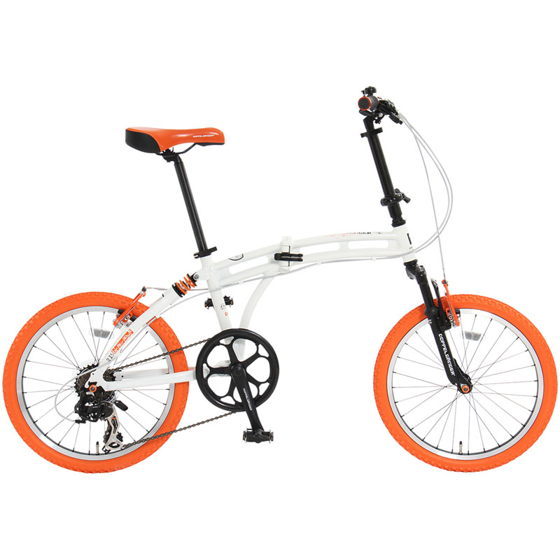 ドッペルギャンガー(DOPPELGANGER) 215 Barbarous(バーバラス) 【20インチ 折りたたみ自転車】 20インチ ホワイト×オレンジ×ブラック