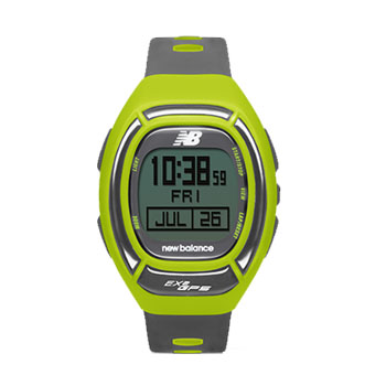 new balance (New Balance) EX2-906-002 RUN watch running watch GPS function deployment for windows lime X is gray