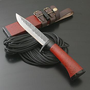 関兼常 関伝古式和鉄製錬 多重鋼赤漆細工匠・両刃 大 CW-27