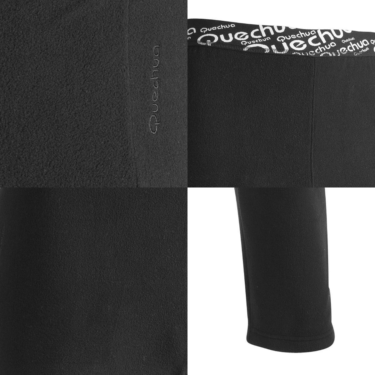 Quechua(keshua)FORCLAZ 50 fleece紧凑的裤子人M BLACK 8228616-1562132