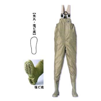 阪神素地 F-91 水産長靴(胸当付) 24.0cm ベージュ 191001