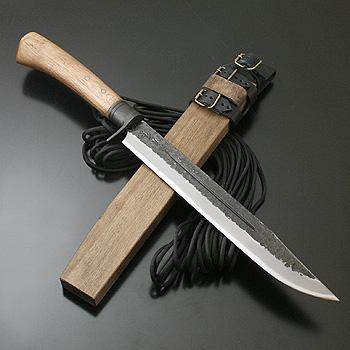 関兼常 関伝古式和鉄製錬 雷神狩猟匠・両刃 刃長:270mm CW-33