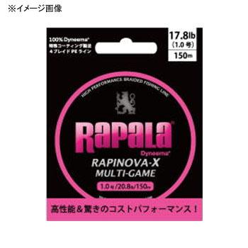 ルアー釣り用PEライン Rapala ラパラ 売れ筋 市販 ラピノヴァ エックス マルチゲーム 0.6号 ピンク RLX150M06PK 150m 13lb