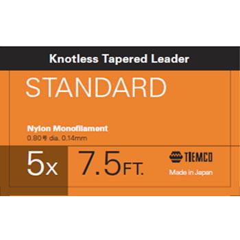 フライライン ティムコ TIEMCO 安心の定価販売 リーダースタンダード NEW ステルスグレー 7.5フィート 5X