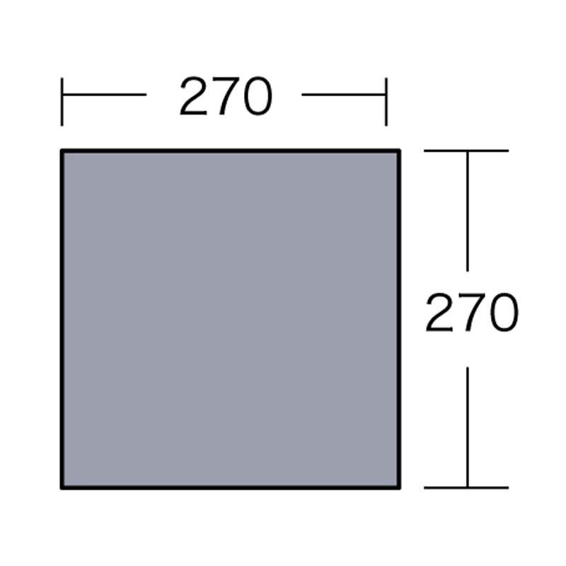 ogawa(小川キャンパル) PVCマルチシート 280×280用 シルバー 1406