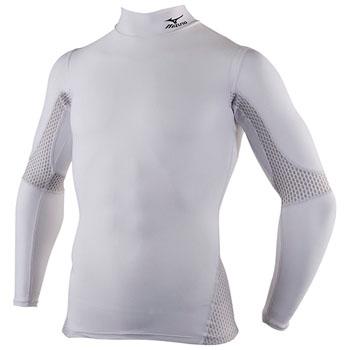 ミズノ(MIZUNO) A60BS300 バイオギアハイネック長袖シャツ(姿勢ナビ) Men's L 01(ホワイト) A60BS300