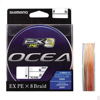 シマノ(SHIMANO) PL-O78L OCEA EX8 PE(オシア EX8 PE) 300m 2号/40lb O×ピュアWH×モス×イエロー×オシアブルー) PL-O78L 5C     2