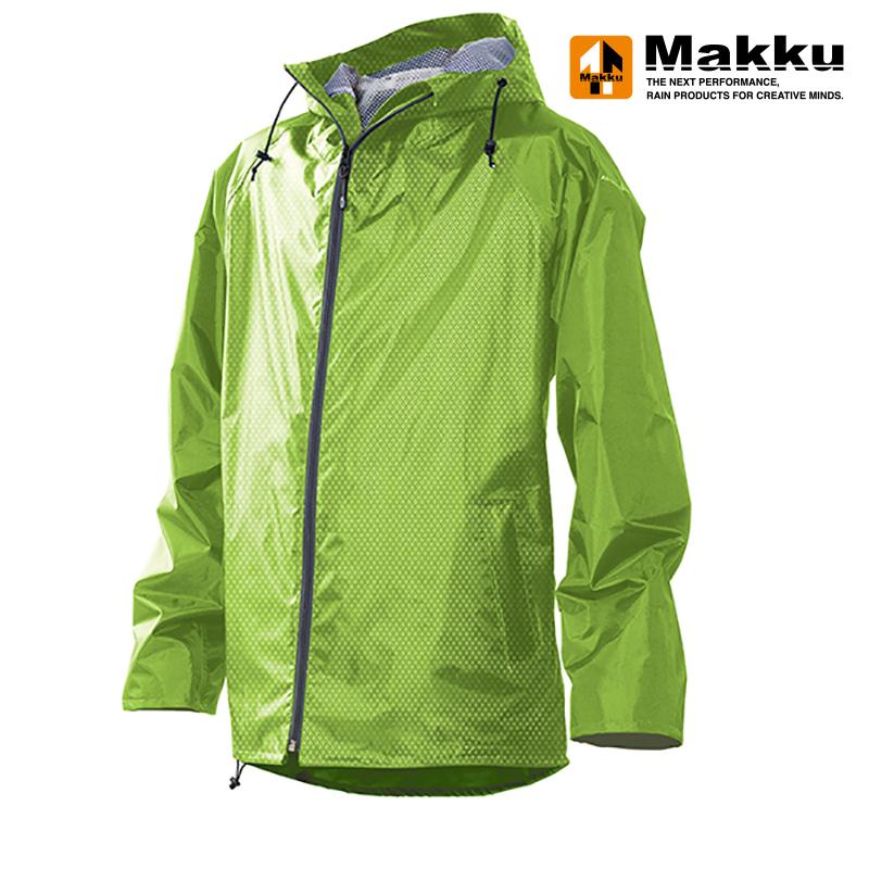 アウトドアレインウェア・レインポンチョ マック(Makku) レイントラックジャケット L ライトグリーン AS-900