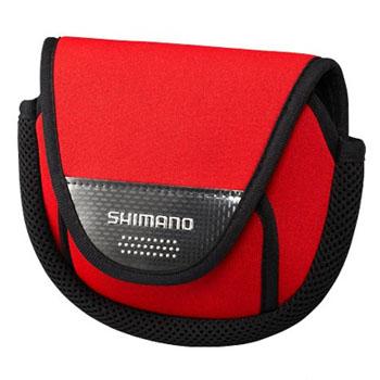 高品質 リールケース リール収納 美品 シマノ SHIMANO リールガード レッド M PC-031L スピニング用 レッド