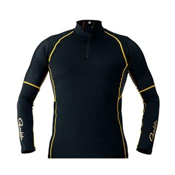がまかつ(Gamakatsu) コンプレッションジップシャツ LL ブラック 53387-14-0