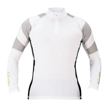 がまかつ(Gamakatsu) コンプレッションジップシャツ L ホワイト 53387-23-0