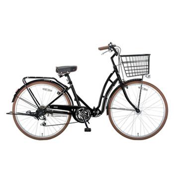 キャプテンスタッグ(CAPTAIN STAG) バレイFDB266 折りたたみ自転車 26インチ ブラック YG-216