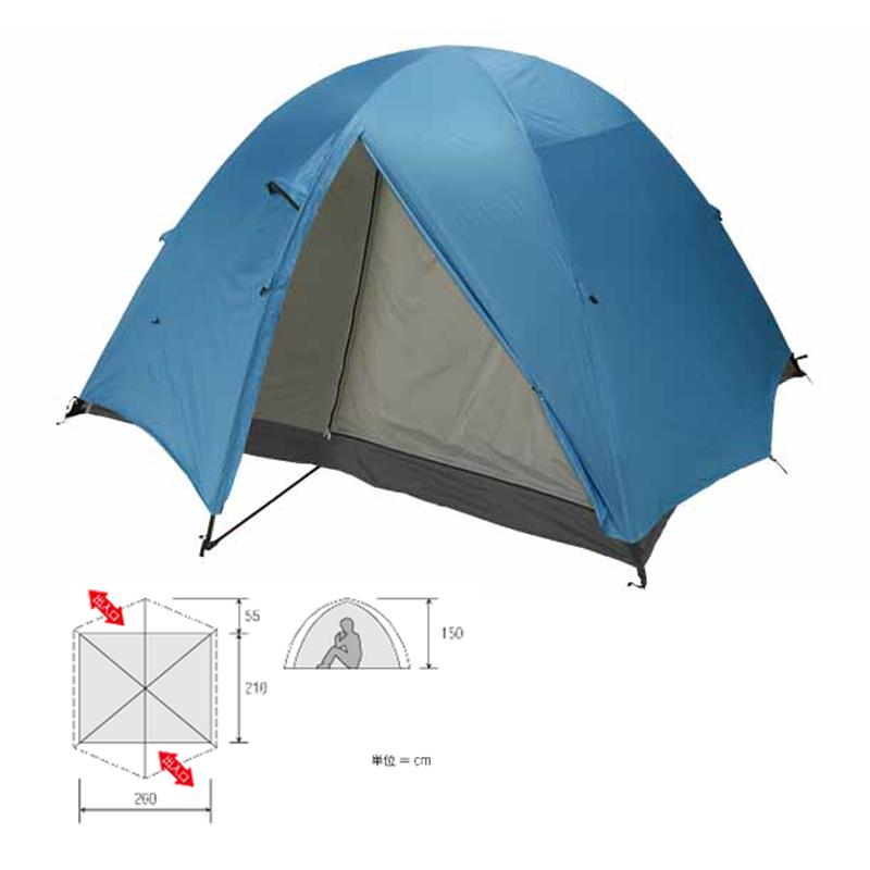 ダンロップ(DUNLOP) 3シーズン用登山テント 6人用 VK-60