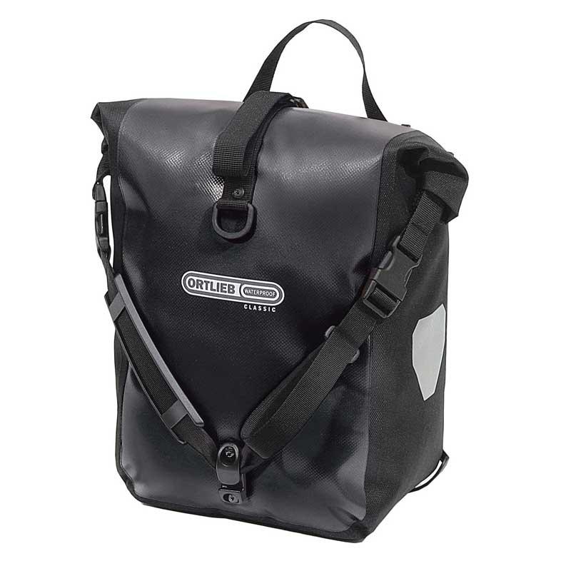 自転車バッグ ORTLIEB オルトリーブ スポーツローラークラッシック ペア 防水IP64 キャンペーンもお見逃しなく ブラック 驚きの値段 F6301 25L 旧 フロントローラークラシック