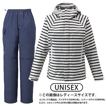 HELLY HANSEN(ヘリーハンセン) HOE11400 SCANDZA HELLY RAIN SUIT M N1(ボーダーネイビー) HOE11400