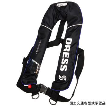 ドレス(DRESS) DRESS 自動膨張ベスト フリー ブラック LD-OP-1101