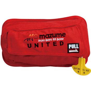 MAZUME(マズメ) インフレータブルポーチ ウエストバック取付用 フリー レッド MZLJ-244-02