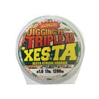 ゼスタ(XeSTA) ジギングPE トリプルX8 1200m 1号/17lb