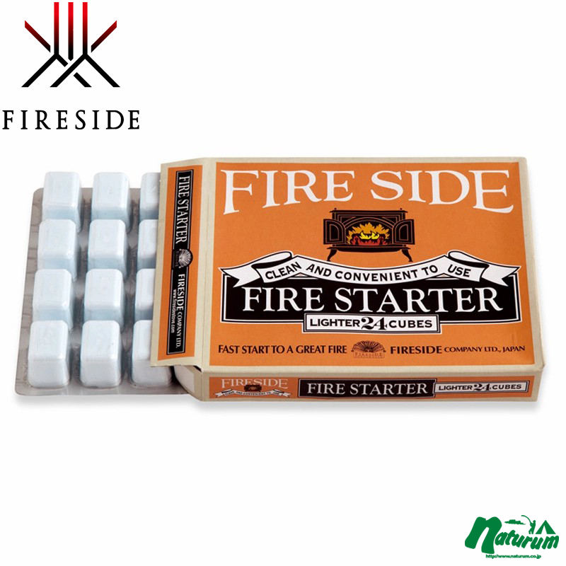 固体燃料 保証 ファイヤーサイド Fireside 1箱24個入り 正規取扱店 630540 ドラゴン着火剤