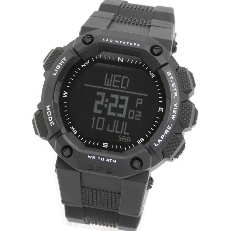 LAD WEATHER(ラドウェザー) GPS MASTER ブラック×反転液晶 lad006bk1