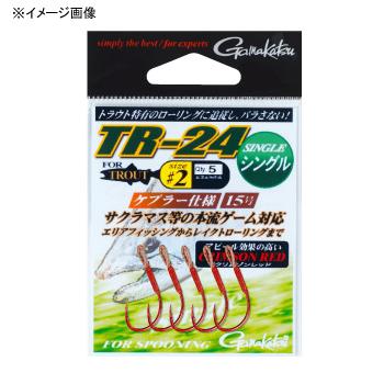 がまかつ(Gamakatsu) TR-24 シングル 1/0 クリムゾンレッド 67884