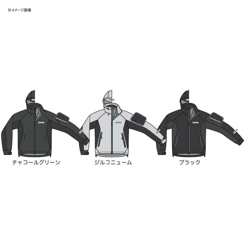 パズデザイン BSストレッチレインジャケット XL チャコールグリーン SBR-036