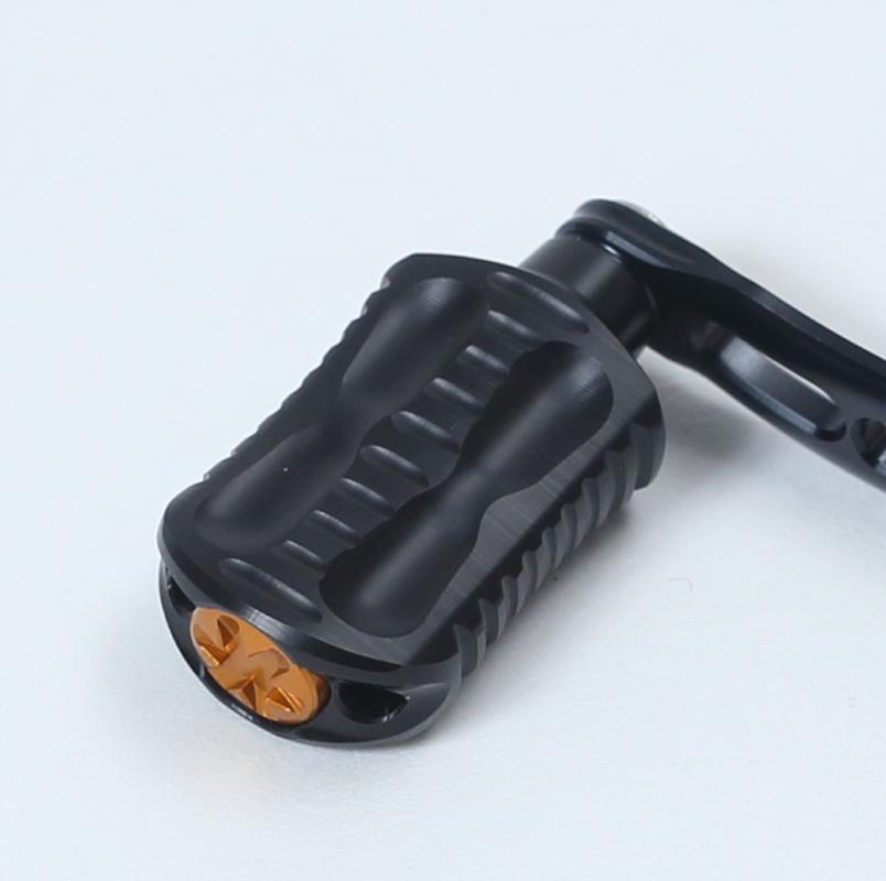 DLIVE(ドライブ) ウェーブ エアードライブW ダブルハンドル シマノType2 左右共通 65mm ブラックオレンジ DLF-BH5S2-65BKOR
