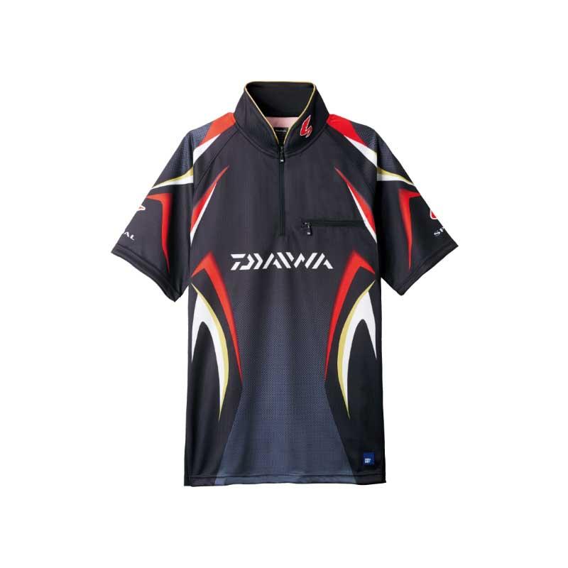 ダイワ(Daiwa) DE-7107 スペシャル アイスドライ ジップアップ半袖メッシュシャツ 2XL ブラック 04517954