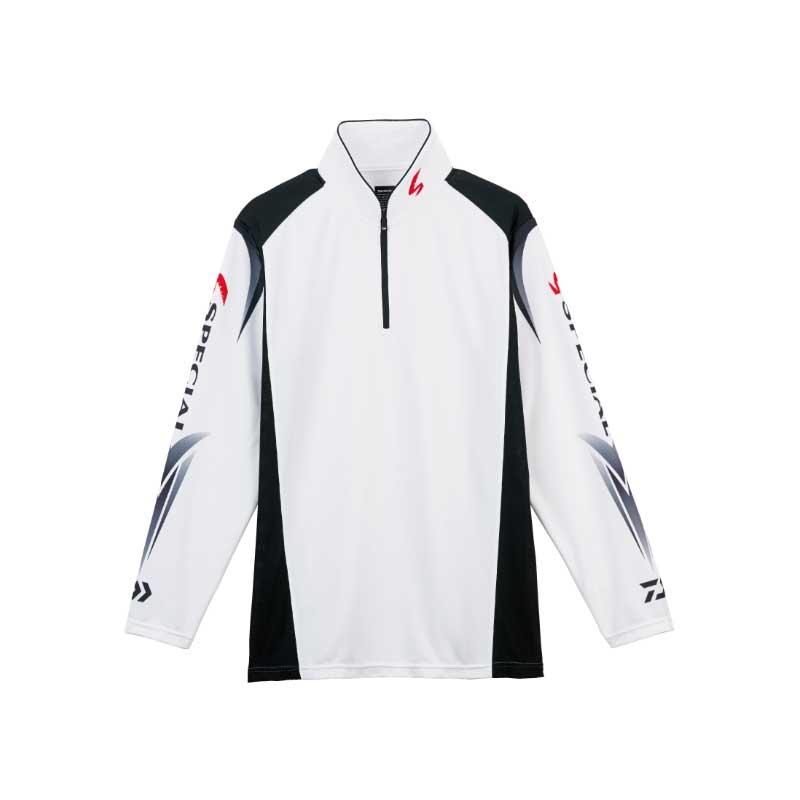 ダイワ(Daiwa) DE-7207 スペシャル ウィックセンサー ジップアップ長袖メッシュシャツ XL ホワイト 04517978