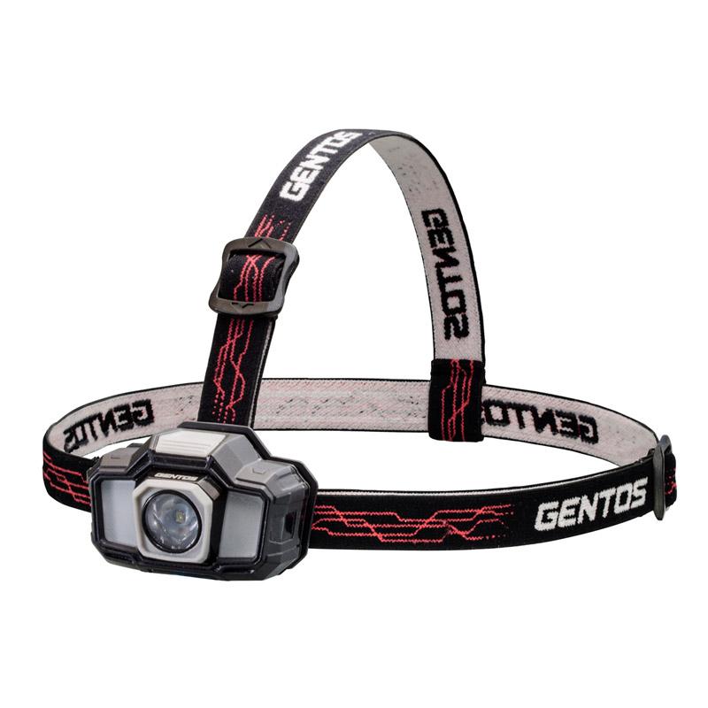 保障 アウトドアライト GENTOS ジェントス ヘッドライト ブラック 単四電池式 GD-243D 最大130ルーメン 正規取扱店