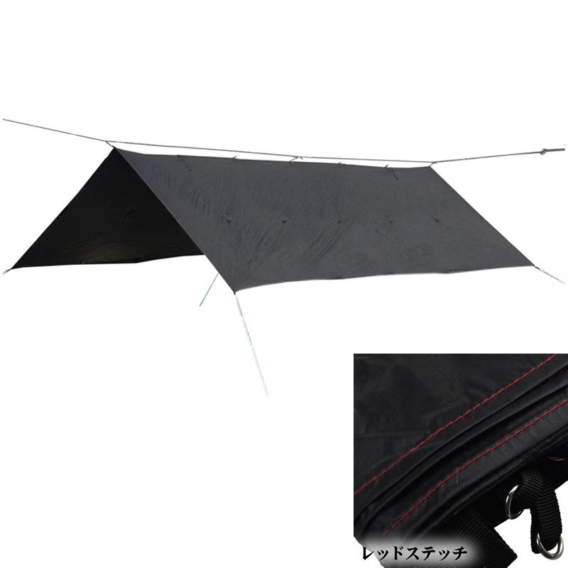 Bush Craft(ブッシュクラフト) ORIGAMI TARP(オリガミタープ) 4.5×3 レッドステッチ 02-06-tent-0012