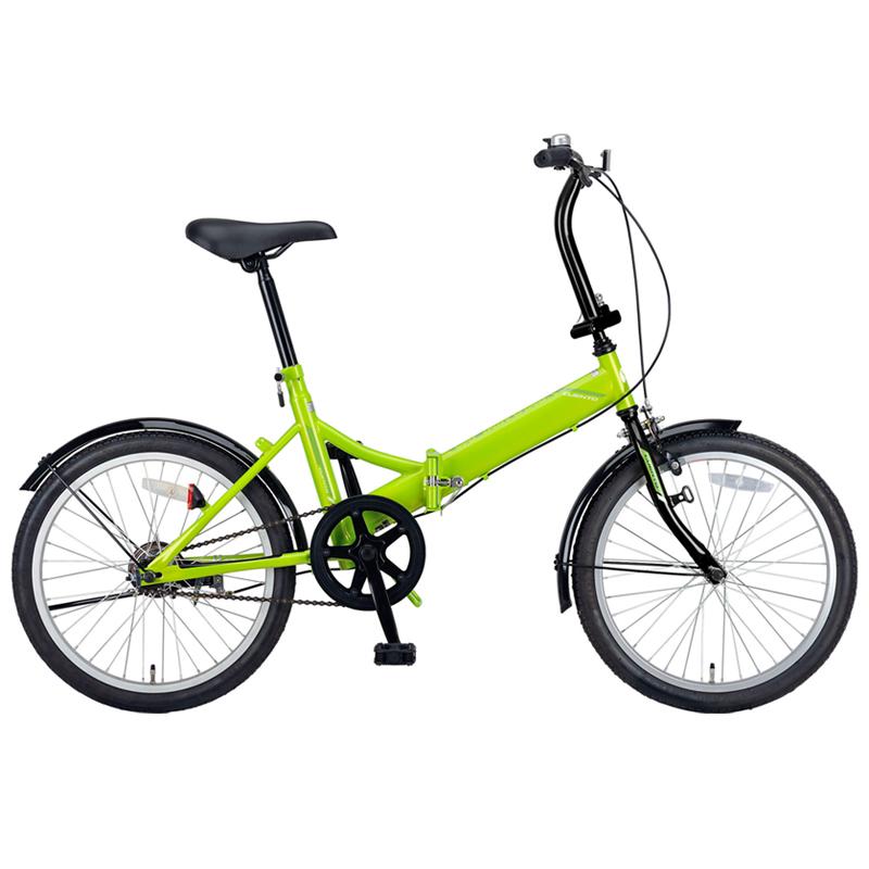 キャプテンスタッグ(CAPTAIN STAG) クエント FDB201 折り畳み自転車 20インチ 1段変速 軽量 20インチ グリーン YG-326 【大型商品】