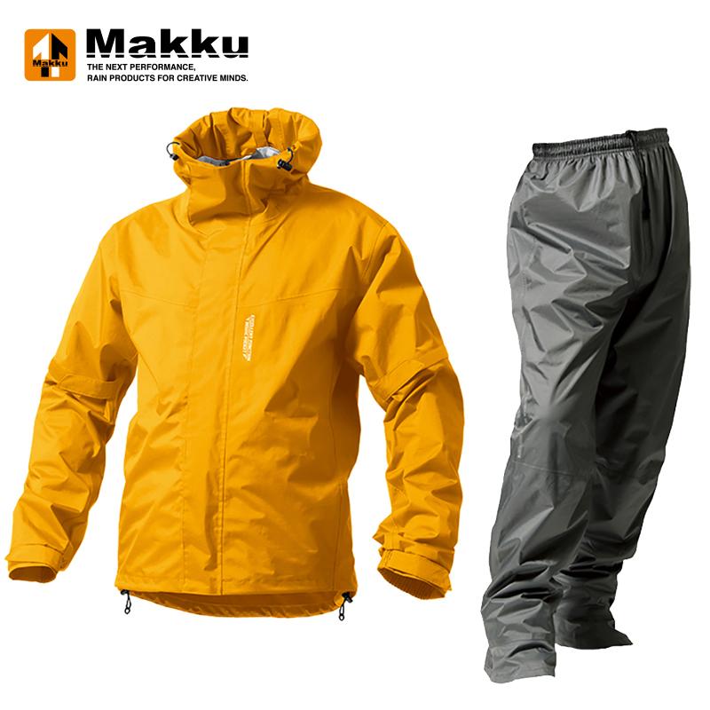 マック(Makku) デュアルワン LL マットイエロー/マットグレー AS8000