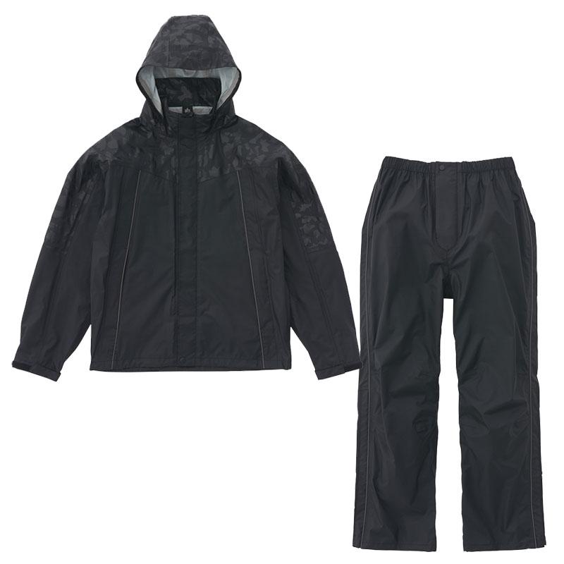 ロゴス(LOGOS) レインスーツ スロエ L ブラックカモ 36708842