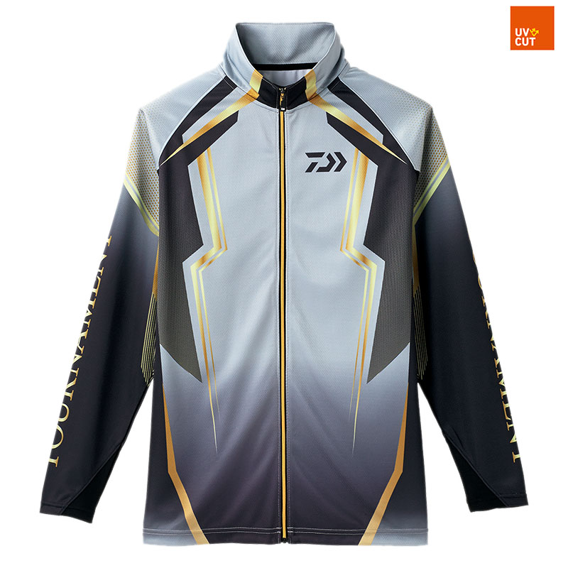 ダイワ(Daiwa) DE-73008 トーナメント ドライフルジップ メッシュシャツ 3XL スチールグレー 08330325