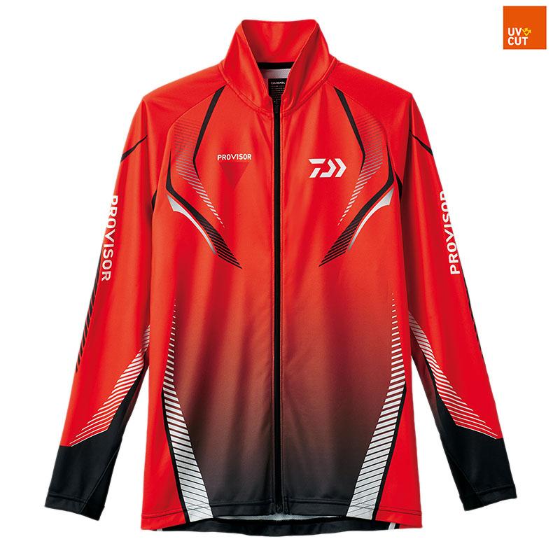 ダイワ(Daiwa) DE-74008 プロバイザー ドライフルジップシャツ 2XL レッド 08330344