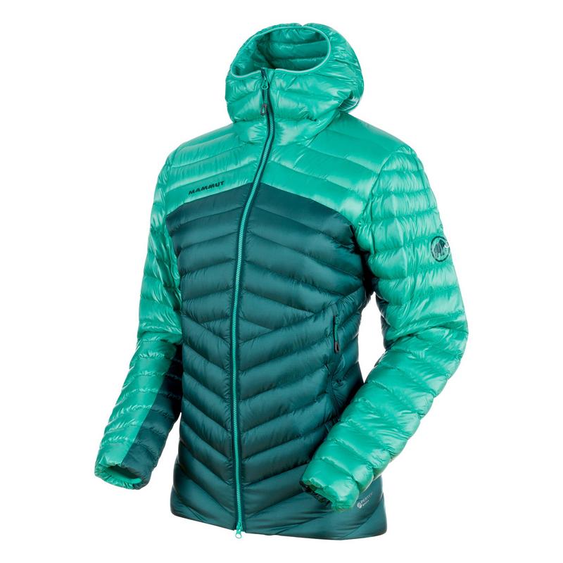 アウトドアジャケット(レディース) MAMMUT(マムート) Broad Peak IN Hooded Jacket Women's S teal×atoll 1013-00350