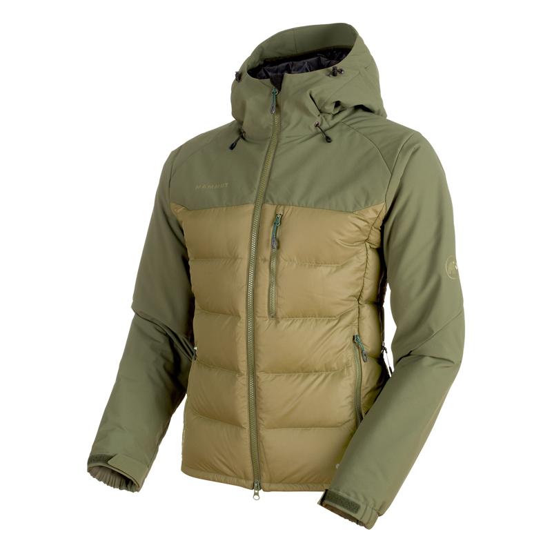 MAMMUT(マムート) Rime Pro IN Hybrid Hooded Jacket Men's M clover×dark clover 1013-00640