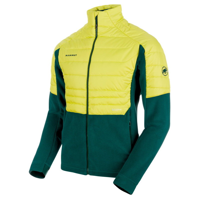 MAMMUT(マムート) Innominata ML Hybrid Jacket Men's M dark teal×canary 1014-00440