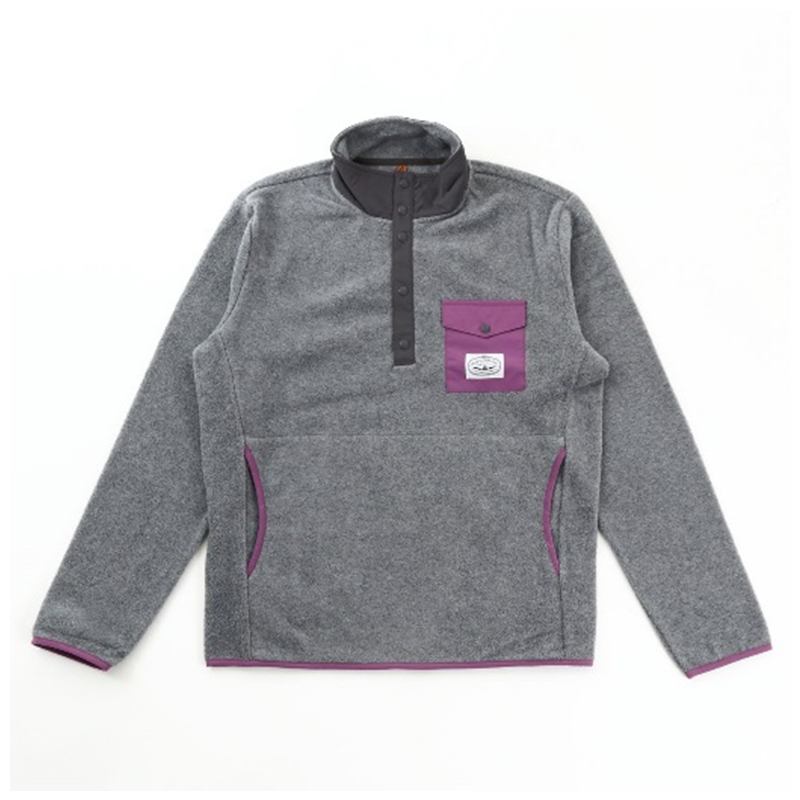 SNAP FLEECE S GRAY