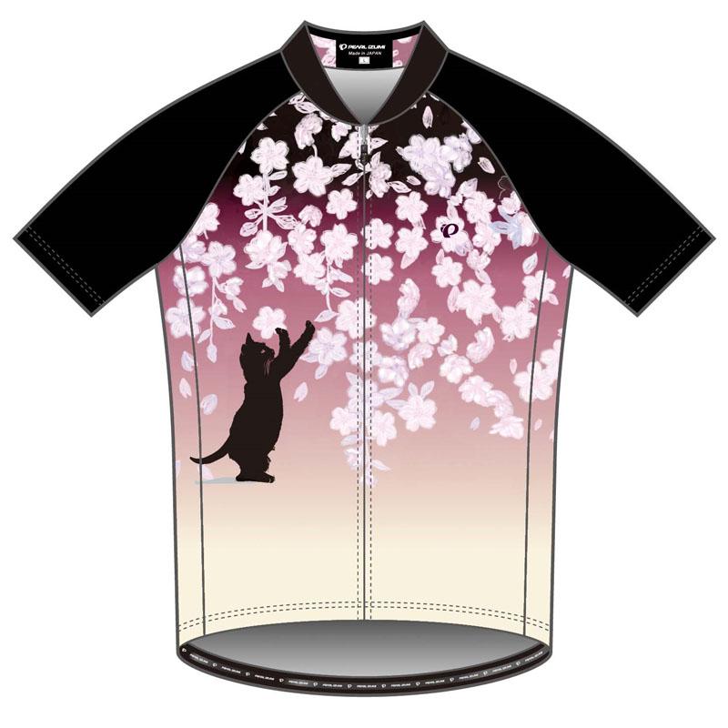 パールイズミ(PEARL iZUMi) プリント ジャージ L 桜と猫 S621-B-12-L
