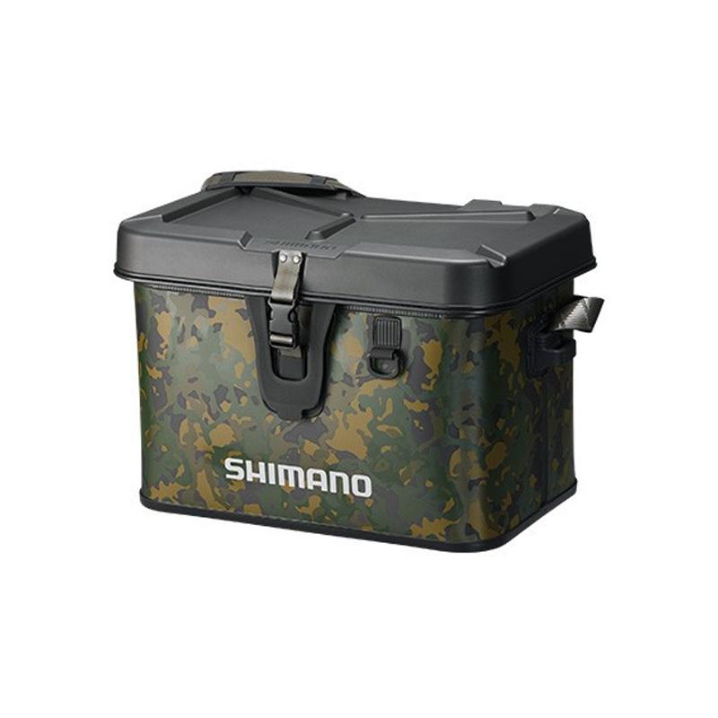 シマノ(SHIMANO) BK-001Q タックルボートバッグ(ハードタイプ) 22L ベージュウィードカモ 63101