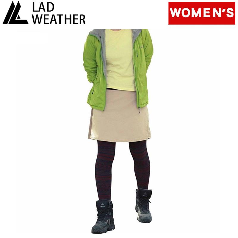 信用 パンツ スカート レディース LAD WEATHER ラドウェザー ベージュ 安心の定価販売 Women's ライトトレッキングスカート ladpants010be-l L
