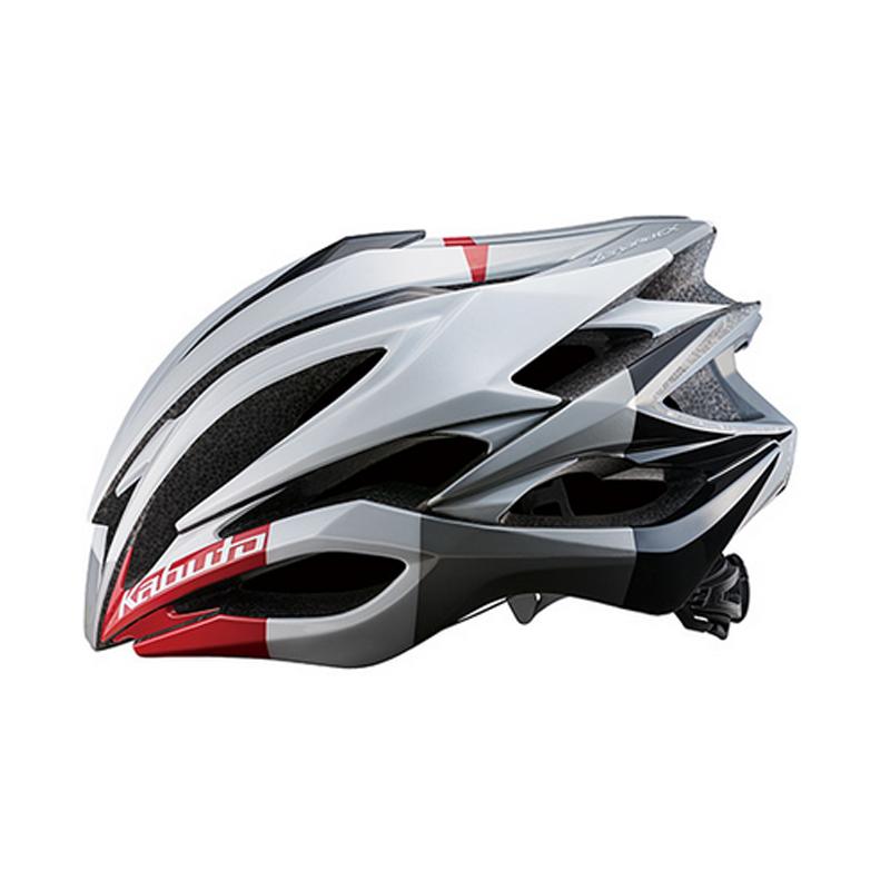 OGK(オージーケー) ヘルメット ZENARD-EX L ホワイトレッド 20600622