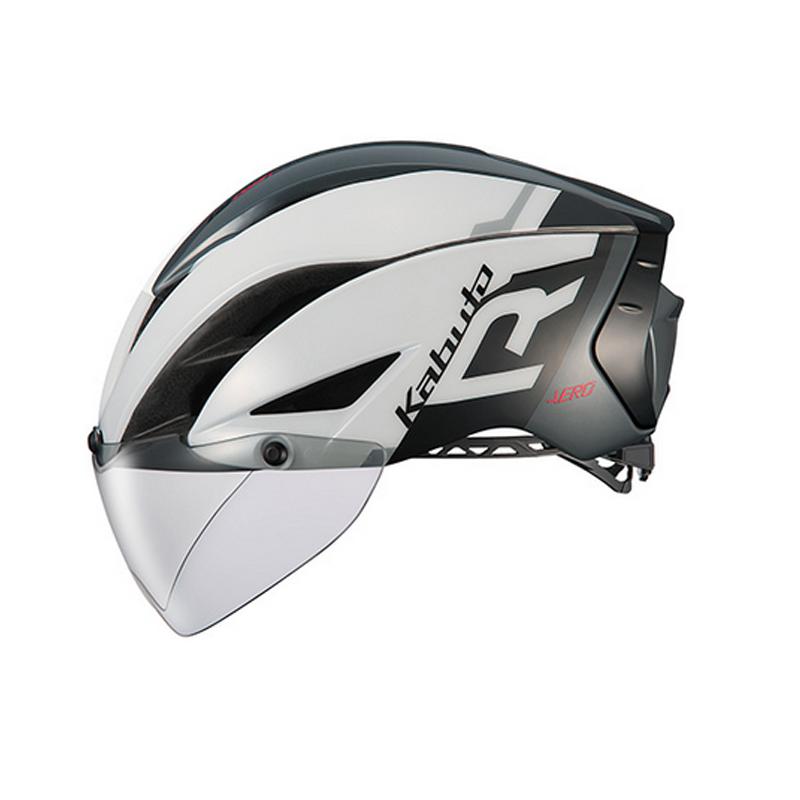 OGK(オージーケー) ヘルメット AERO-R1-TR トライアスロン L/XL G-1ホワイトダークグレー 20601111