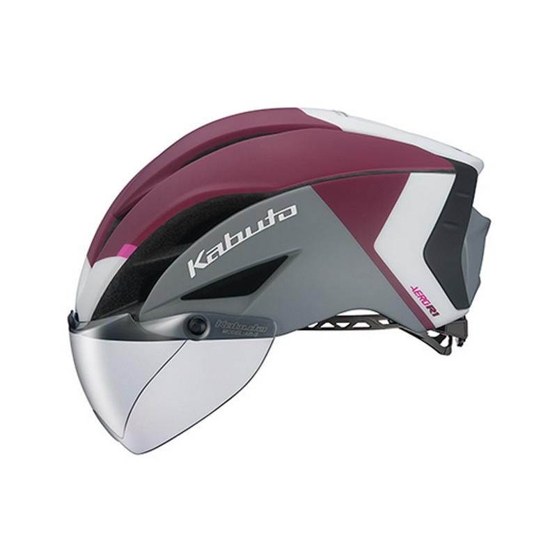 OGK(オージーケー) ヘルメット AERO-R1-TR トライアスロン S/M G-2マットダークレッド 20601116